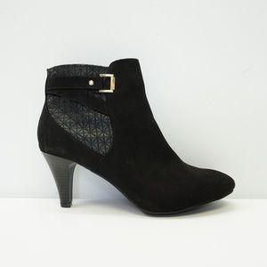 NEW Apri High Heel Ankle Boot Bootie Black 9